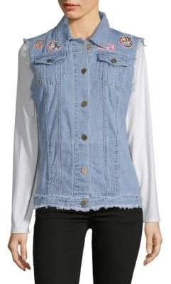 Denim Patch Vest