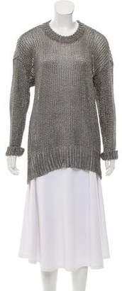 Alexander Wang Metallic Knit Sweater