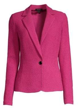 St. John Women's Wool-Blend One-Button Blazer - Pink - Size 6