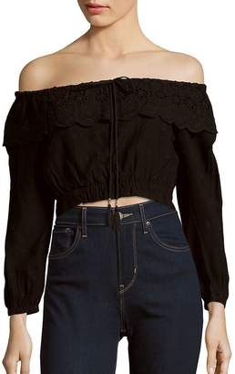 Winston White Women's Luciana Off-The-Shoulder Crop Top
