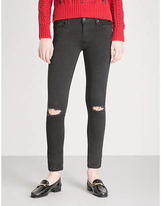 Maje Priska distressed skinny high-rise jeans