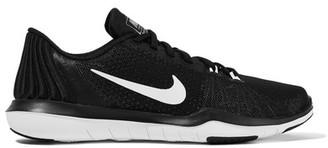 Nike - Flex Supreme Tr 5 Mesh Sneakers - Black $100 thestylecure.com