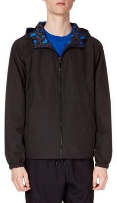 Kenzo Men's Reversible Leopard-Print Wind-Resistant Jacket