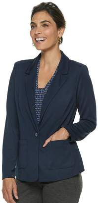Dana Buchman Petite Travel Anywhere Solid Blazer