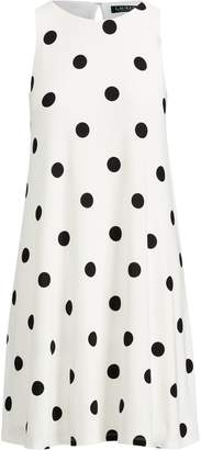 Lauren Ralph Lauren Ralph Lauren Polka-Dot Jersey A-Line Dress