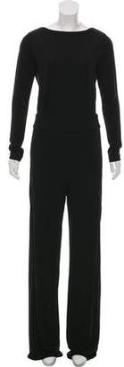 Tory Burch Long Sleeve Wide-Leg Jumpsuit