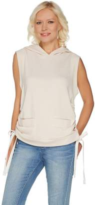 Peace Love World Sleeveless French Terry Hoodie Vest