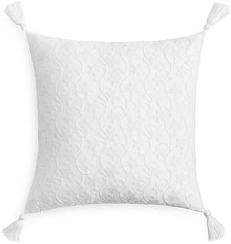 Sky French Knot Floral Decorative Pillow, 18 x 18 - 100% Exclusive
