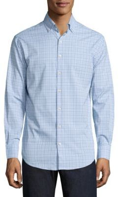 Peter Millar Crown Sport English Performance Glen Plaid Shirt $135 thestylecure.com