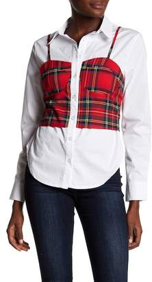 Tea & Cup Red Checkered Bow Top