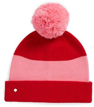 Kate Spade Colorblock Knit Beanie