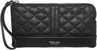 PERLINA Perlina Blake Quilted Leather Wristlet $40.79 thestylecure.com