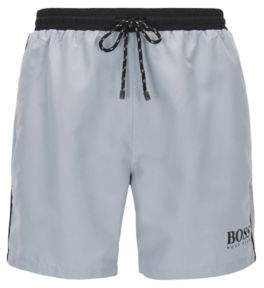 BOSS Hugo Swim shorts in technical fabric XL Silver