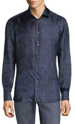Brioni Tropical Silk Button-Down Shirt