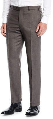 Emporio Armani Men's Melange Flat-Front Trousers