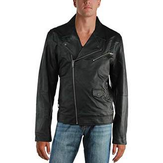 Calvin Klein Jeans Men's Faux Leather Perfecto Jacket