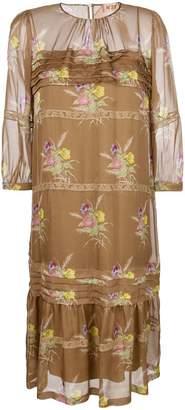 No.21 sheer top floral dress
