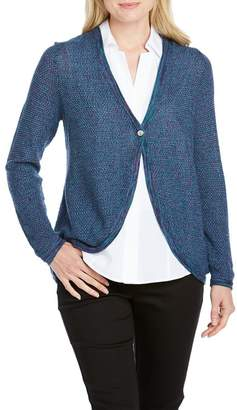 Foxcroft Quinn Long Sleeve Novelty Stitched Cardigan