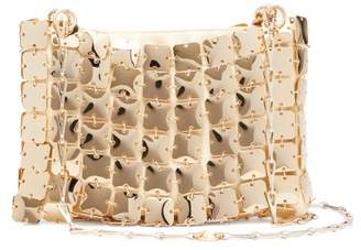 Paco Rabanne Square 1969 Chain Shoulder Bag - Womens - Gold