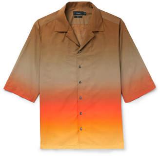 Joseph Camp-Collar Degrade Cotton-Poplin Shirt - Men - Red