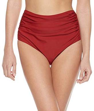 16f936698df Bloom Muse Women s Vintage High Waisted Bottom Separate Ruched Swimming  Panty Shorts(XL