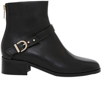 Maree Black Calf Leather Boot