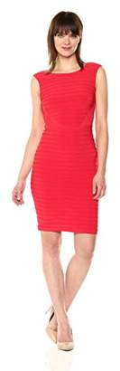 Adrianna Papell Women's Matte Jersey Sleeveless Lace Dress