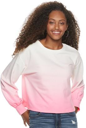 Candies Juniors' Candie's Balloon Sleeve Sweatshirt