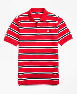 Brooks Brothers Boys Short-Sleeve Alternate Stripe Pique Polo Shirt