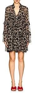 Robert Rodriguez Women's Leopard Silk Chiffon Shift Dress-Neut. pat.