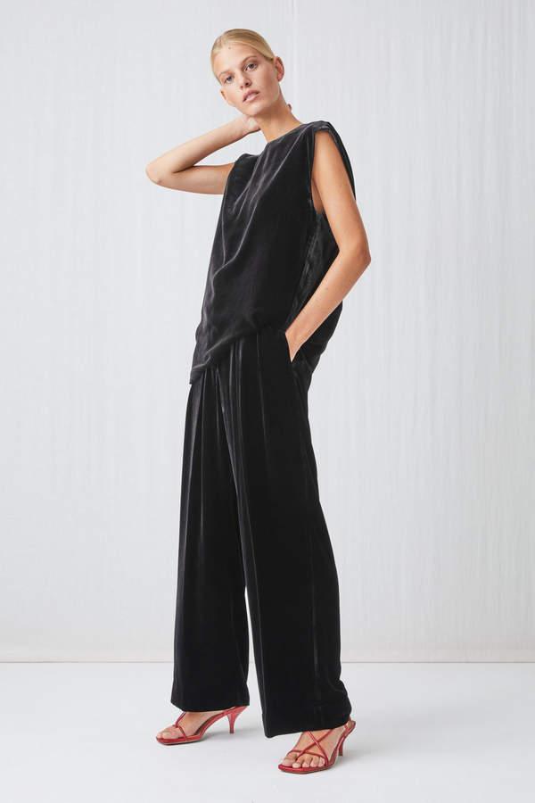 Arket Wide Velvet Trousers
