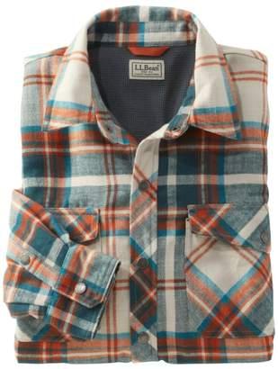 L.L. Bean L.L.Bean Men's Overland Performance Flannel Shirt, Fleece Lined