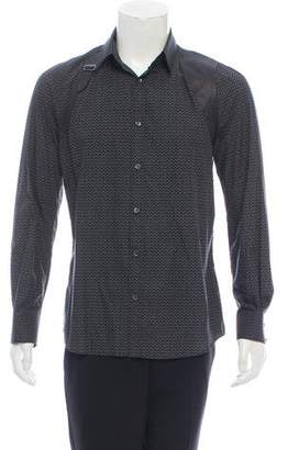 Alexander McQueen Leather-Accented Casual Shirt