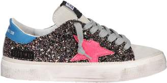 Golden Goose May Sequin Lace up Sneakers