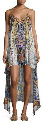 Camilla Embellished High-Low Coverup Dress, Echoes of Engai $620 thestylecure.com
