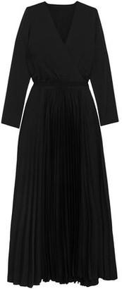 Vanessa Bruno Wrap-effect Pleated Cady Maxi Dress
