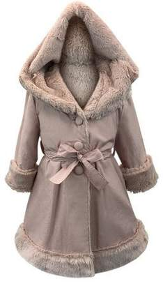 Helena Hooded Faux Fur-Lined Reversible Coat, Size 2-6