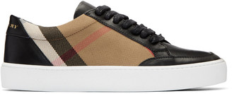 Burberry Black Salmond Check Sneakers $375 thestylecure.com