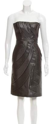 Viktor & Rolf Metallic-Accented Strapless Dress