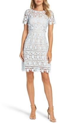 Women's Eliza J Crochet Overlay Dress $178 thestylecure.com