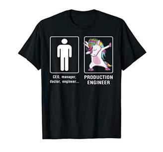 Unicorn Production Engineer T-shirt Funny