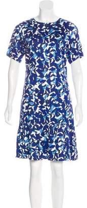 Isolda Floral Print Knee-Length Dress