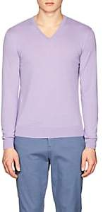 Ralph Lauren Purple Label MEN'S CASHMERE V-NECK SWEATER-PURPLE SIZE XL