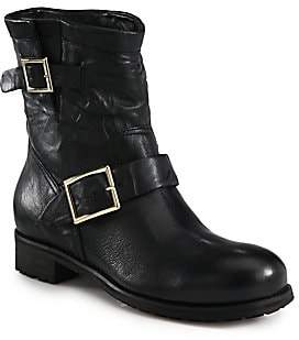 eb290dcebf48 Jimmy Choo Youth Biker Boots - ShopStyle