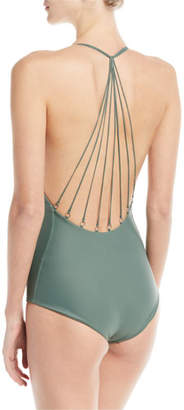 Mikoh Ipanema Strappy Metal-Ring Back One-Piece Swimsuit
