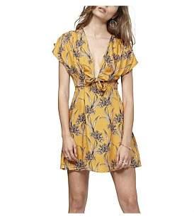 MinkPink Saffron Tie Front Wrap Dress