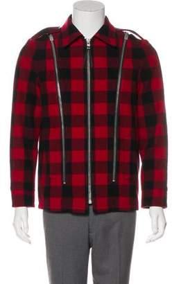 Saint Laurent 2013 Wool Plaid Jacket