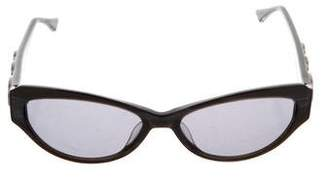 Judith Leiber Narrow Gradient Sunglasses