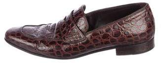 Dolce & Gabbana Crocodile Driving Loafers