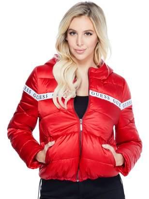 Factory Guess Women's Izze Logo Puffer Jacket